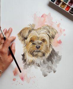pintura-aquarela-cachorro-doguim