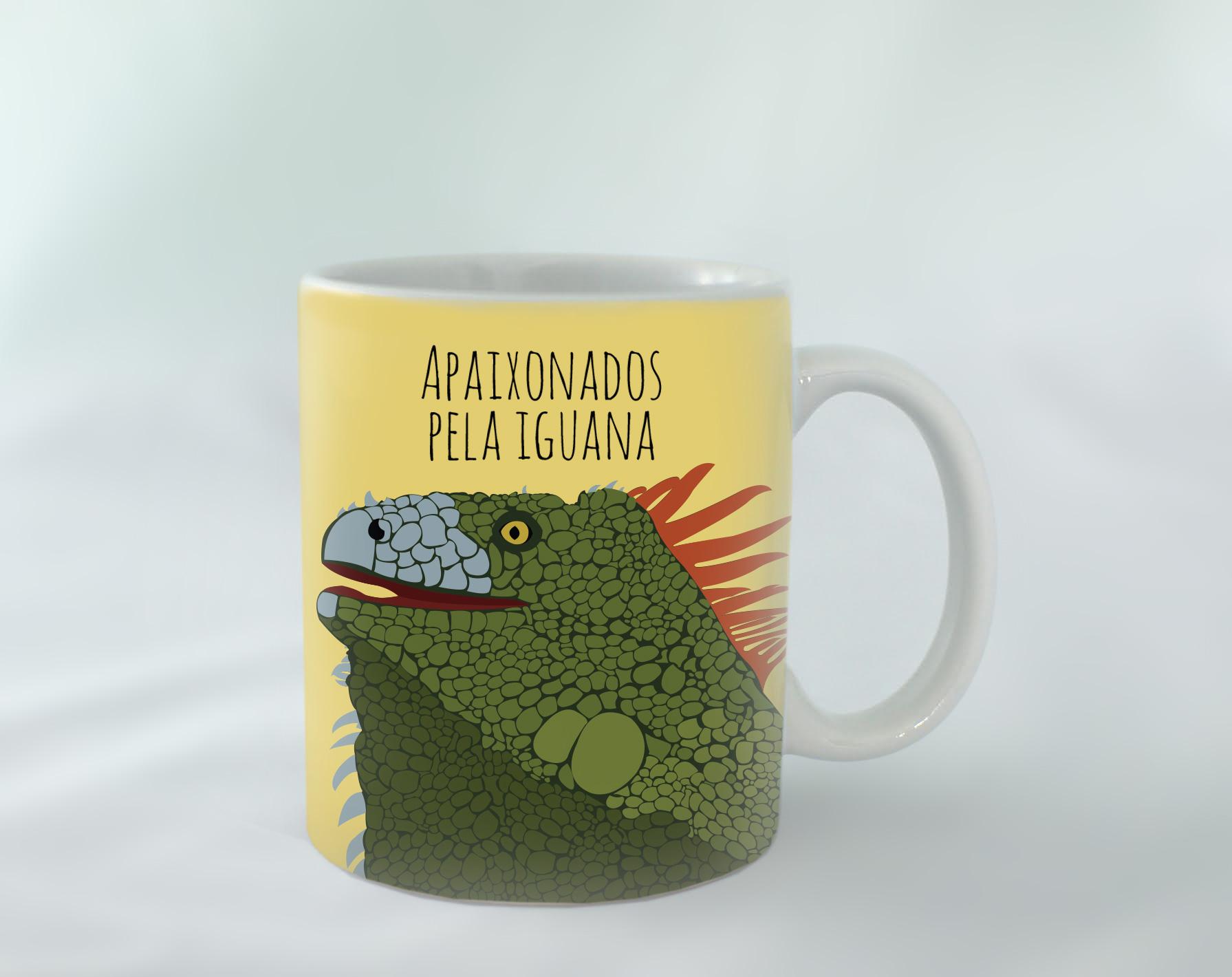Caneca-iguana-amarelo